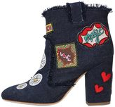 Laurence Dacade 95mm Patches Denim Ankle Boots