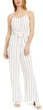 Bar III Sleeveless Striped Jumpsuit, Created for Macy's