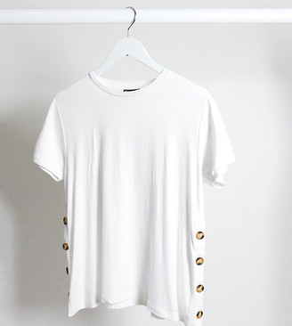 Asos Maternity   Nursing ASOS DESIGN Maternity nursing t-shirt with button side in white