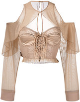 Puma mesh bustier top - women - Polyester/Spandex/Elastane - XS