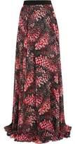 Giambattista Valli Printed Silk-Georgette Maxi Skirt