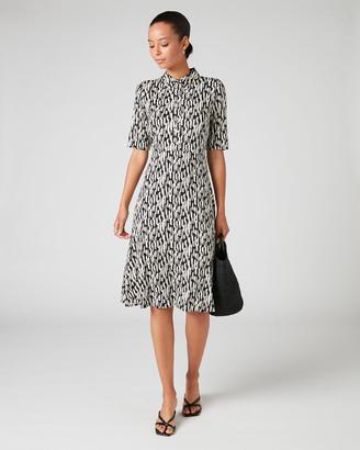 Jigsaw Sketch Geo Jersey Shirt Dress