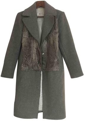 Sandro Fall Winter 2018 Anthracite Wool Coat for Women