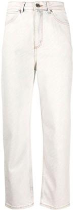 Sandro Paris Zebra Print Straight-Leg Jeans