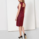 Anne Weyburn Jacquard Knee-Length Shift Dress with Open Back