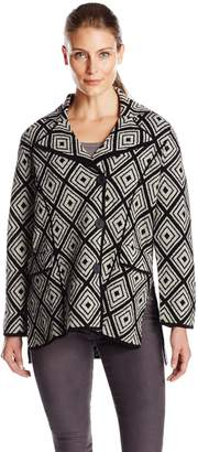 Heather B Women's Boiled Wool Short Diamond Jacket