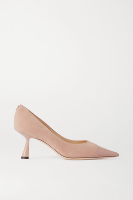 Jimmy Choo Rene 65 Suede And Patent-leather Pumps - Antique rose