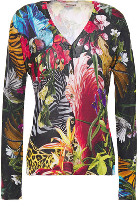Roberto Cavalli Printed Silk Cardigan