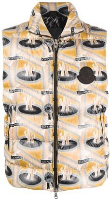 Moncler Genius 1952 x Fred Perry logo-print gilet