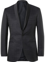 Brioni Blue Silk and Wool-Blend Houndstooth Jacquard Tuxedo Jacket