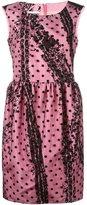Moschino polka dot dress - women - Polyamide/Polyester/Acetate/Rayon - 42