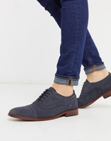 Base London cast brogues in navy suede