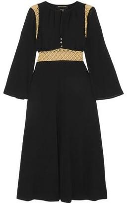 Vanessa Seward Forever Crochet-paneled Cotton-voile Midi Dress