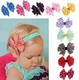 Lookatool 10PC Babys Headband Hairband Elastic Wave Point Bowknot Photography