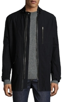 The Kooples Solid Leather Trimmed Anorak