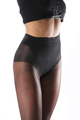 Levante Women's Body Slim 40 Collant 100% Made In Italy Hold-Up Stockings,(size: 3)