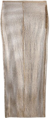 Alessandra Rich Rhinestone Midi Skirt