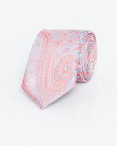 Le Château Paisley Microfibre Skinny Tie