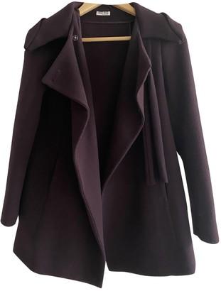 Miu Miu Burgundy Wool Coats