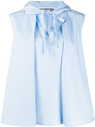 Courreges Sleeveless Hooded Blouse