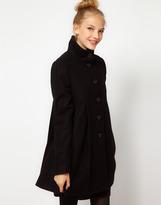 Asos Pleat Swing Front Coat