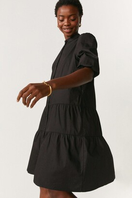 Coast Button Through Poplin Smock Dress