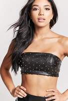 Forever 21 Studded Faux Leather Tube Top