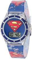 Superman Kids' SUP4021 Printed Logo Analog Strap Watch