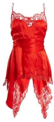 Givenchy Fishtail-hem Silk-satin Cami Top - Womens - Red