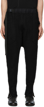 The Viridi-anne Black Wool Cargo Pants