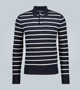 Ralph Lauren Purple Label Striped wool long-sleeved polo