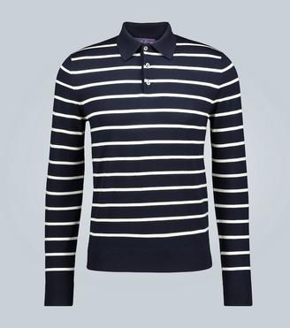 Ralph Lauren Purple Label Striped wool long-sleeved polo