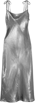 Georgia Alice Hils Metallic Silk-blend Dress