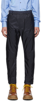 Prada Navy Nylon Side Zip Trousers