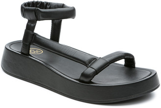 Ash Victoria Puffy Napa Asymmetrical Sandals, Black