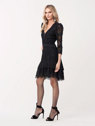 Diane von Furstenberg Adrina Floral Lace Mini Dress