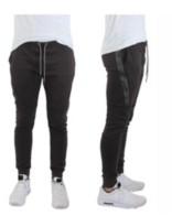 Galaxy By Harvic Men's Tech Fleece Joggers With Zipper Pockets