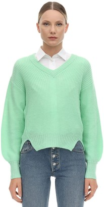 Baum und Pferdgarten Charlize V Neck Wool Blend Knit Sweater