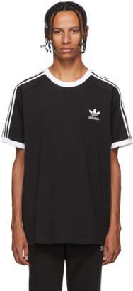 adidas Black and White Striped T-Shirt
