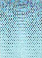 Blue Area Geometric Wool Rug East Urban Home Rug Size: Runner 2' x 5'