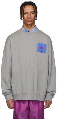 Acne Studios Grey Forba Flag Face Sweatshirt