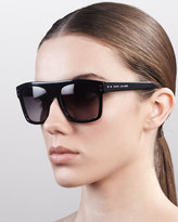 Marc Jacobs Square Sunglasses with Logo, Black