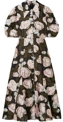 Erdem Gisella Fil Coupe Organza Midi Dress