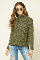 Forever 21 FOREVER 21+ Marled Knit Mock Neck Sweater