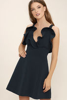 Keepsake Bitter Sweet Navy Blue Dress