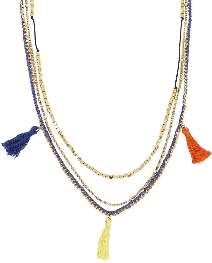BCBGMAXAZRIA Multi-Chain Bohemian Necklace