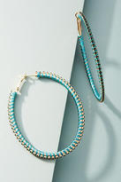 Anthropologie Crystalline Hoop Earrings
