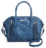 Mossimo Women's Solid Satchel Faux Leather Handbag with Removable Crossbody Strap