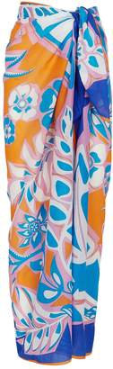 Pucci Cotton Abstract Print Pareo