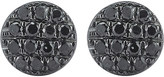The Alkemistry Lauren Joy mini 14ct black rhodium and black diamond earrings